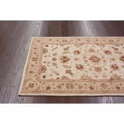 nuLOOM Handspun Decorative Persian Ivory New Zealand Wool Rug (6' x 9')