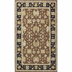 nuLOOM Handspun Decorative Persian Brown New Zealand Wool Rug (8' x 10')