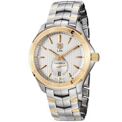 Tag Heuer Men's 'Link' Silver Dial Two Tone Stainless Steel Watch