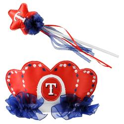 Texas Rangers Princess Tiara Wand Set