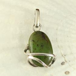 Sterling Silver Caged Mint Green Baltic Amber Pendant (Lithuania)