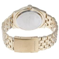 Monument Women's Goldtone Crystal Bezel Watch
