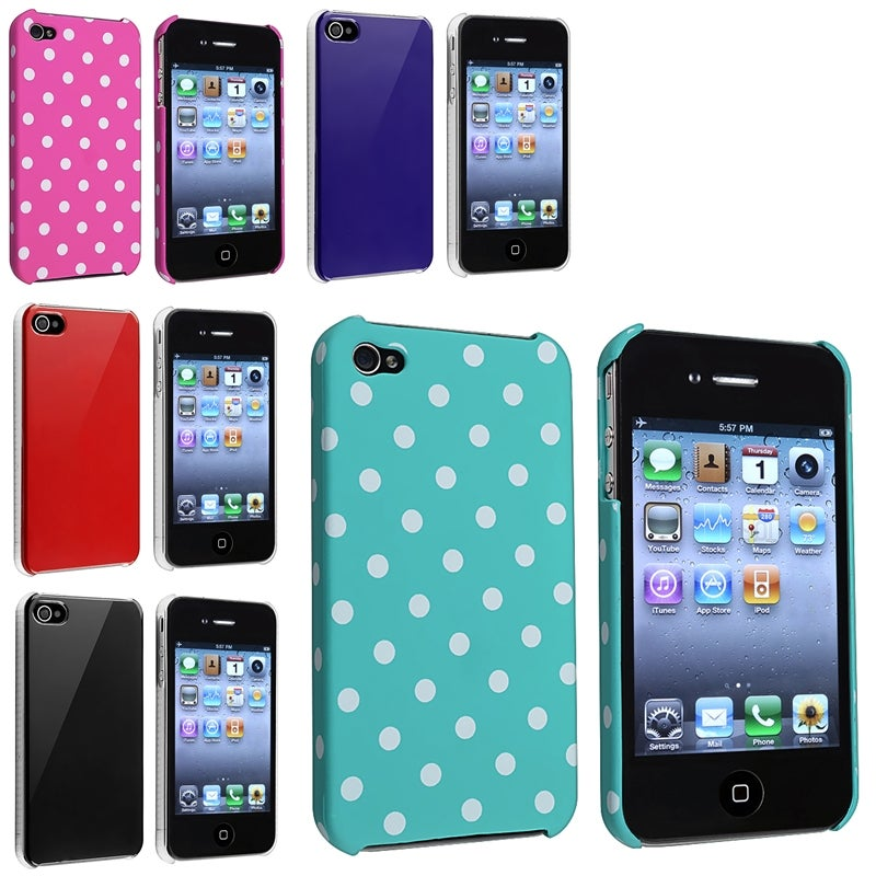 Red/ Blue/ Black/ Pink/ Blue-green Cases for Apple iPhone 4/ 4S
