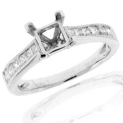 14k White Gold 0.60ct TDW Semi-mount Diamond Engagement Ring (G-H, SI-1/SI-2)