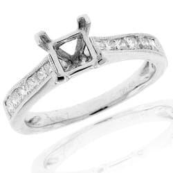 14k White Gold 3/5ct TDW Semi-mount Diamond Engagement Ring (G-H, SI-1/SI-2)