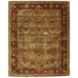Handmade Persian Legend Light Green/ Rust Wool Rug (12' x 15')