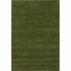 Alexa 'My Soft and Plush' Green Shag Rug (5'3 x 8')
