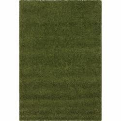 Alexa 'My Soft and Plush' Green Shag Rug (5'3 x 8')