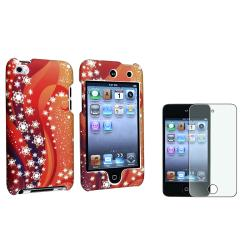 Orange Case/Diamond LCD Protector Set for Apple iPod Touch Generation 4