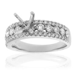 14k White Gold 3/4ct TDW Semi-mount Diamond Engagement Ring (G-H, SI-1/SI-2)