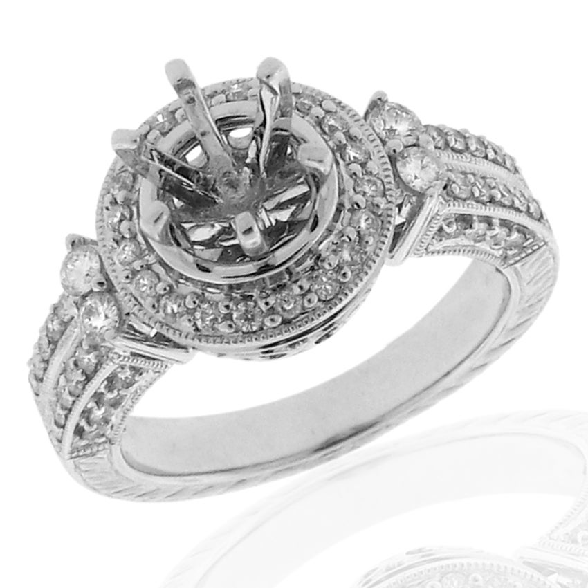 14k White Gold 1/2ct TDW Diamond Engagement Ring (G-H, SI-1/SI-2)