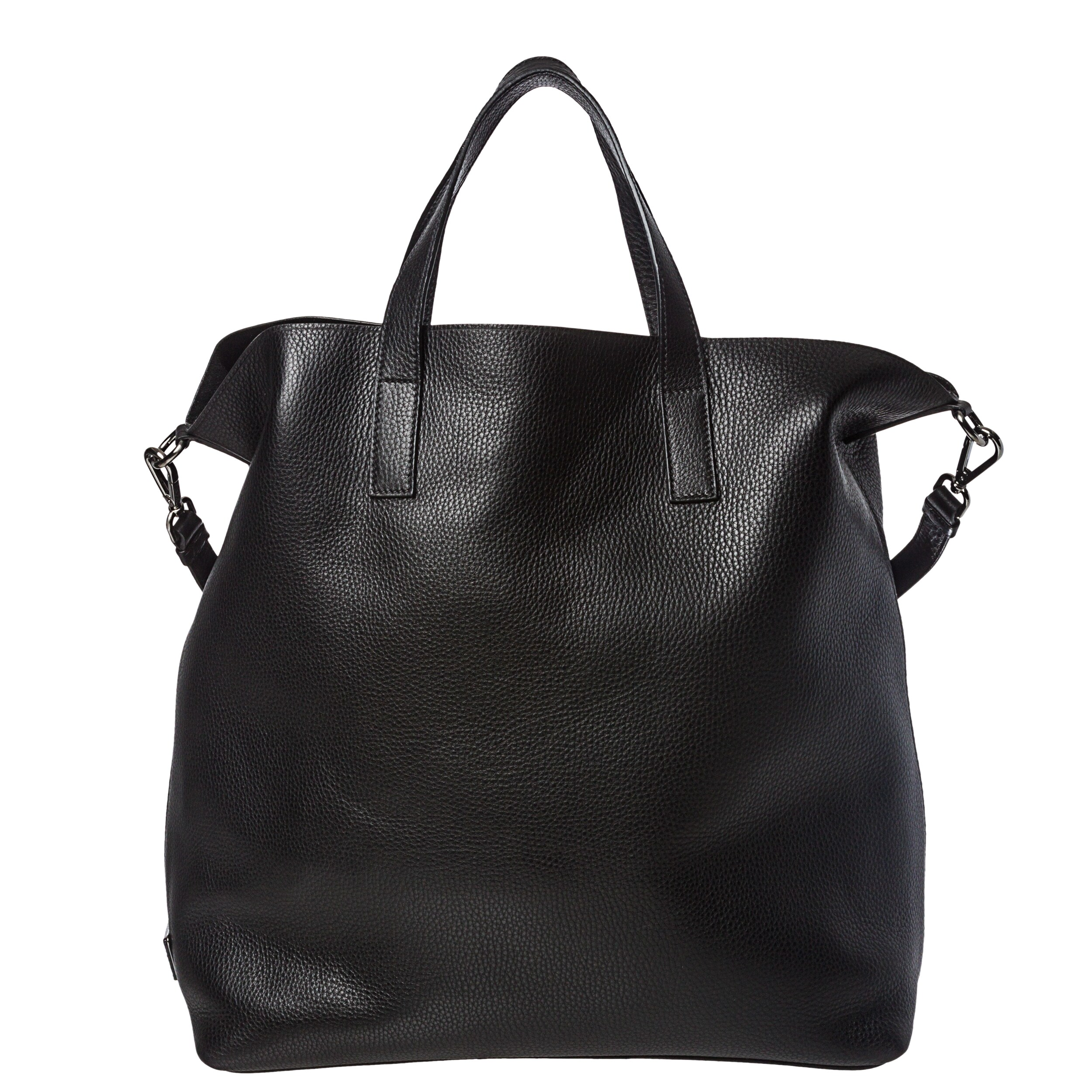 Prada Large Black Leather Tote Bag - 14364187 - Overstock.com ...