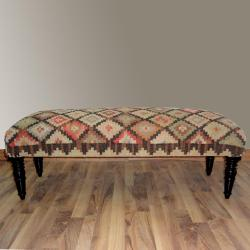 Hand-upholstered Country Multi Wood Bench