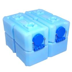 BPA-free 14 Gallon Capacity Water Brick with Notched Easy Open Design