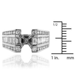 14k White Gold 1 1/2ct TDW Diamond Engagement Ring (G-H, SI-1/SI-2)