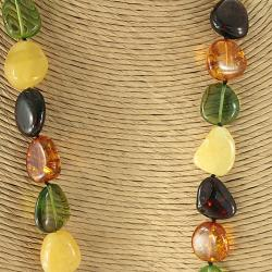 Handcrafted Baltic Amber Freeform Necklace (Lithuania)