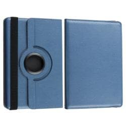 Blue Swivel Case/ Protector/ Cable/ Car Charger for Amazon Kindle Fire