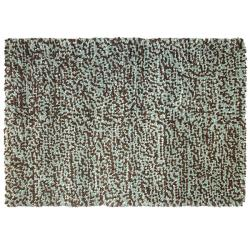 Hand-tufted Bergamo Brown/ Blue Wool Rug (5'3 x 7'7)