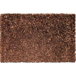 Shaggy Chocolate Suede Leather Rug (5'3 x 7'7)