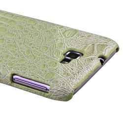 Pale Olive Crocodile Rear Case for Samsung Galaxy Note N7000/ i717