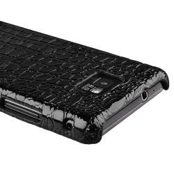 Black Crocodile Rear Snap-on Case for Samsung Galaxy S II i9100