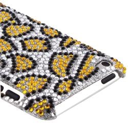 Bling Leopard Rubber Coated Case for Apple iPod Touch Generation 4