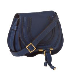 Chloe 'Marcie' Mini Navy Leather Saddle Bag