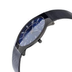 Skagen Men's Stainless Steel Blue Dial Multifunction Watch