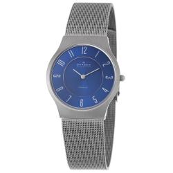 Skagen Men's Titanium Blue Dial Mesh Bracelet Watch