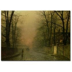 John Grimshaw 'Where the Paler Moonbeams Linger' Canvas Art