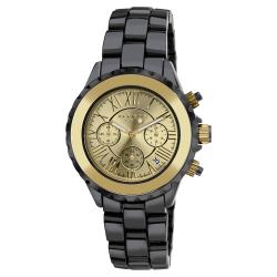Akribos XXIV Men's Ceramic Goldtone Chronograph Watch
