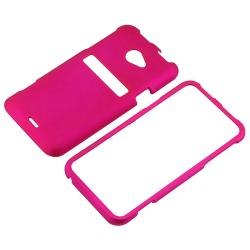 Hot Pink Snap-on Rubber Coated Case for HTC EVO 4G LTE