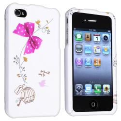 White Snap-on Rubber Coated Case for Apple iPhone 4/ 4S