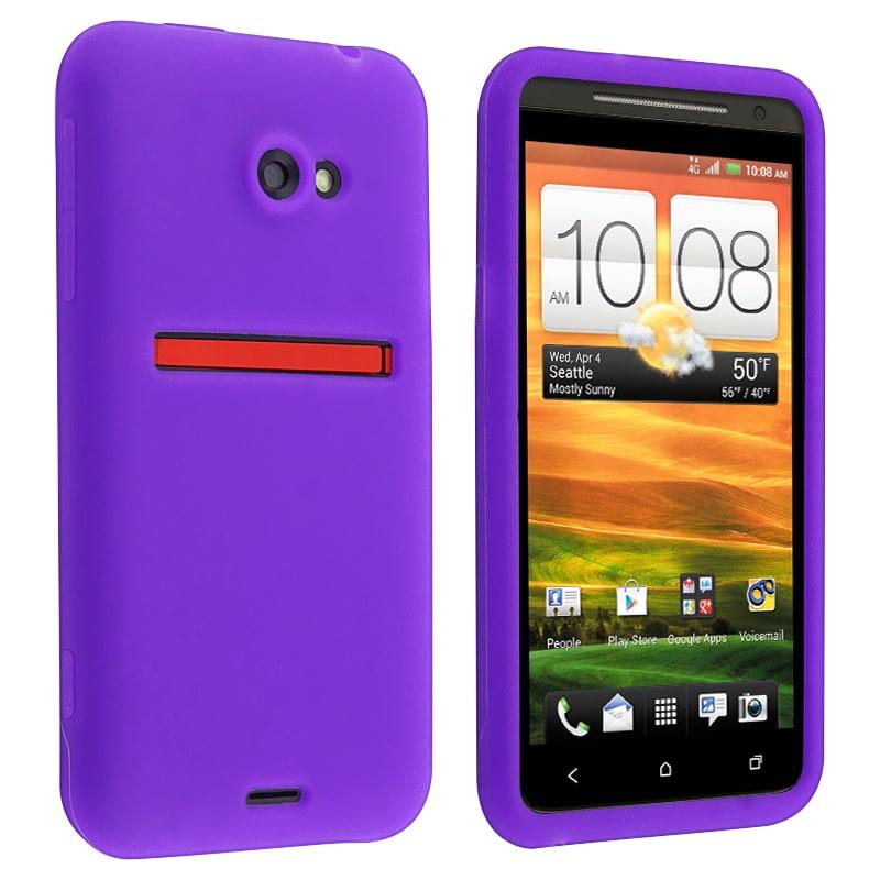 Purple Silicone Skin Case for HTC EVO 4G LTE