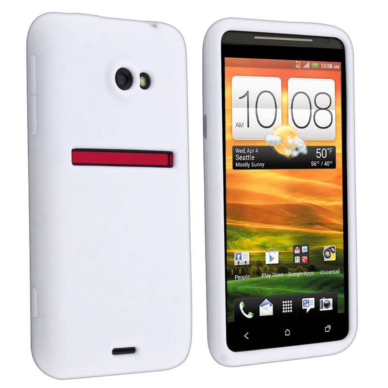 White Silicone Skin Case for HTC EVO 4G LTE
