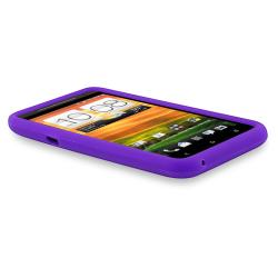 Purple Silicone Skin Case for HTC EVO 4G LTE