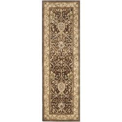 Handmade Persian Legend Brown/ Beige Wool Rug (2'6 x 12')