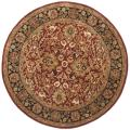 Handmade Persian Legend Rust/ Black Wool Rug (3'6 Round)