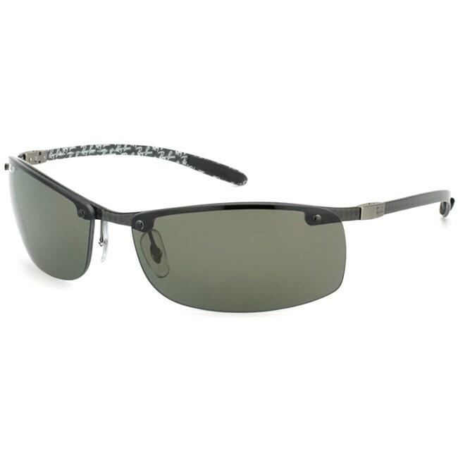 Ray-Ban Men's 'RB 8305 Carbon Fiber 122/9A' Dark Carbon Sport Sunglasses