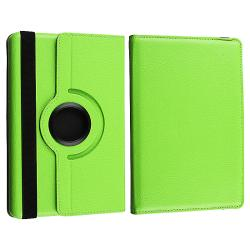 Green Swivel Case/ LCD Protector/ Car Charger for Amazon Kindle Fire