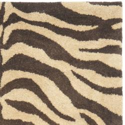 Safavieh Handmade Zebra Beige Hand-spun Wool Rug (3' x 5')