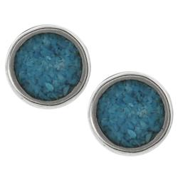 Tressa Collection Sterling Silver Genuine Turquoise Stud Earrings