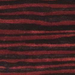Safavieh Handmade Stripes Plum New Zealand Wool Rug (7'6 x 9'6)