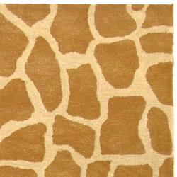 Handmade Giraffe Beige New Zealand Wool Rug (8'3 x 11')