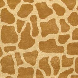 Handmade Giraffe Beige New Zealand Wool Rug (9'6 x 13'6)