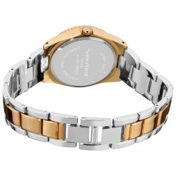 Vernier Women's Fashion Crystal Stone Bezel Gold Bracelet Quartz Watch