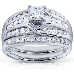 14k White Gold 1ct TDW Diamond Bridal Rings Set (H-I, I1-I2)