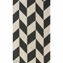 nuLOOM Handmade Chevron Wool Rug (8'6 x 11'6)