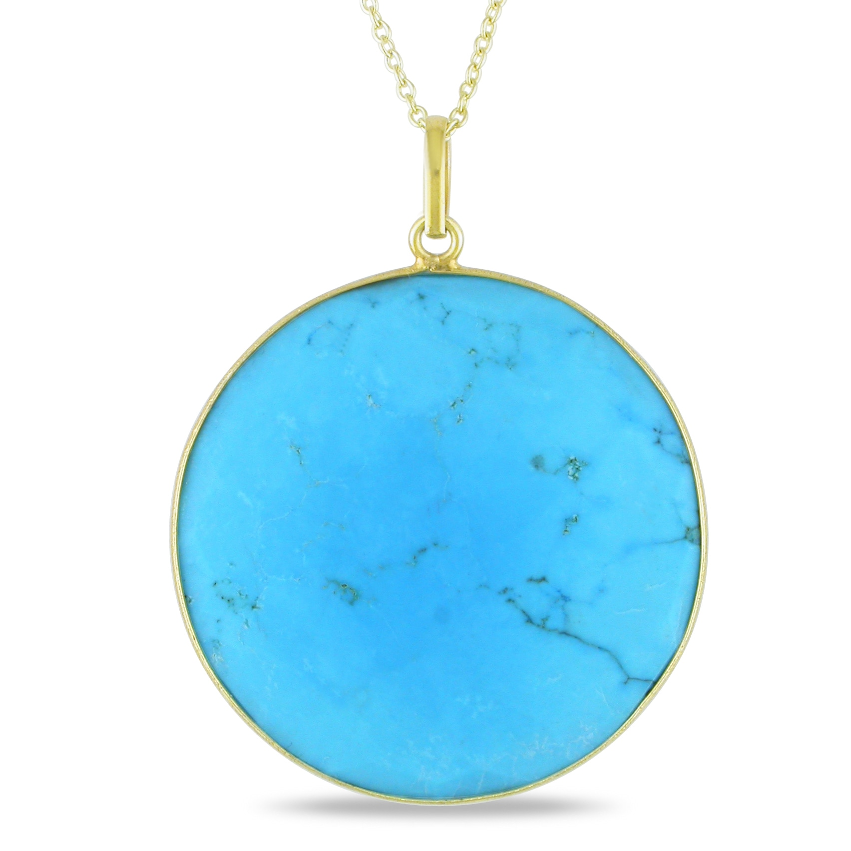 22k Gold Plated Silver Turquoise Necklace