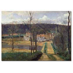 Jean Baptiste Corot 'Ville d'Avray1820' Gallery-Wrapped Canvas Art